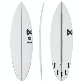 Fourth Surfboards Doofer ESE Construction FCS II 5 Fin Surfboard - White Black