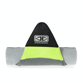 Ocean and Earth Shortboard Stretch Surfboard Bag - Silver Lime