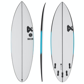Fourth Surfboards Doofer F1X Construction FCS II 5 Fin Surfboard - White/ Black
