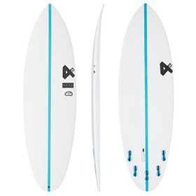 Fourth Surfboards Chilli Bean Base Construction FCS II 5 Fin Surfboard - White Blue