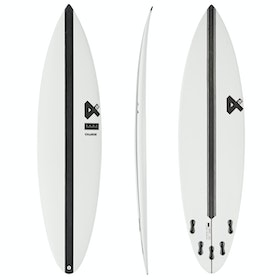 Fourth Surfboards Charge 2.0 Base Construction FCS II 5 Fin Surfboard - White/ Black