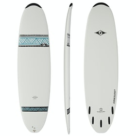 Bic Egg 5 Fin Surfboard - White
