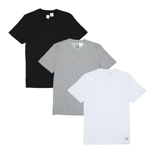 Adidas 3 Pack Short Sleeve T-Shirt