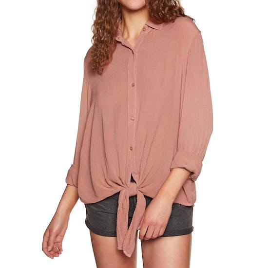 Amuse Society Cest La Vie Woven Ladies Shirt