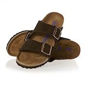 Birkenstock Arizona Suede Leather Soft Footbed Narrow Ladies Sandals