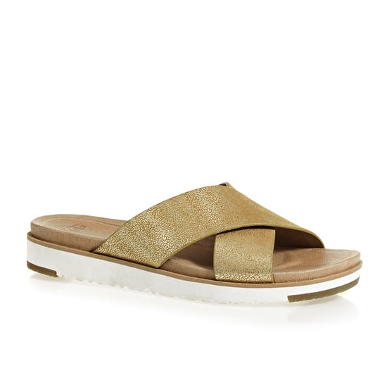 44ee6cbc56c UGG Kari Metallic Sandals available from Surfdome