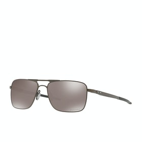 Oakley Gauge 6 Polarised Sunglasses - Pewter ~ Prizm Black