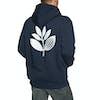 Magenta Plant Pullover Hoody - Navy