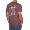 Katin Hourglass Embroidered Short Sleeve T-Shirt - Deep Red