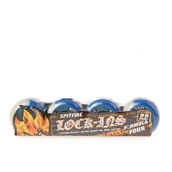 Roda de Prancha de Skate Spitfire Formula Four Lock-Ins 50 50 Swirl 99d