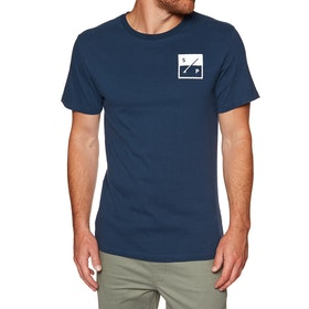 Surf Perimeters The Box Print Short Sleeve T-Shirt - Navy