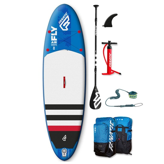 Fanatic Fly Air Stringer w Carbon Pure Paddle and ION Leash SUP Board