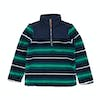 Joules Woozle Half Zip Jungen Fleece - Herb Green Stripe