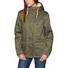 Animal Shortay Womens Jacket - Dark Olive Green