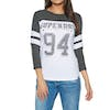 Superdry Vintage Baseball Top Womens Sweater - Black