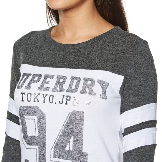 Superdry Vintage Baseball Top Womens Sweater