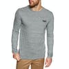 Superdry O L Vintage Embroidery Long Sleeve T-Shirt - Flint Steel Grit