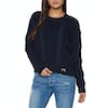 Superdry Clara Lace Knit Womens Knits - Eclipse Navy