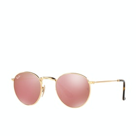 Ray-Ban Round Metal Sunglasses - Gold Copper Flash
