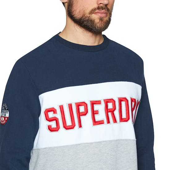 Superdry Academy Colour Block Crew Trui