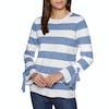 Joules Myanna Tie Sleeve Womens Sweater - Light Blue Stripe