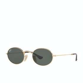 Ray-Ban Oval Sunglasses - Gold Green