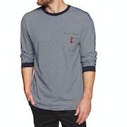 Chrystie C Logo Stripe Pocket Long Sleeve T-Shirt