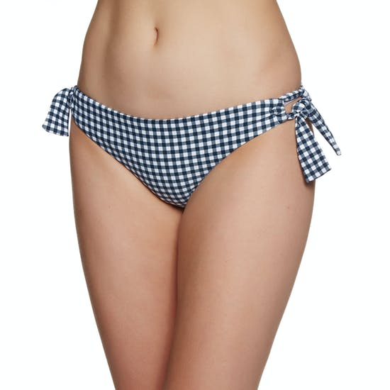 Seafolly Capri Check Loop Tie Side Hipster Bikini Bottoms