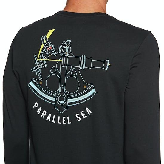 Hurley Df Jjf Parallel Sea Long Sleeve T-Shirt