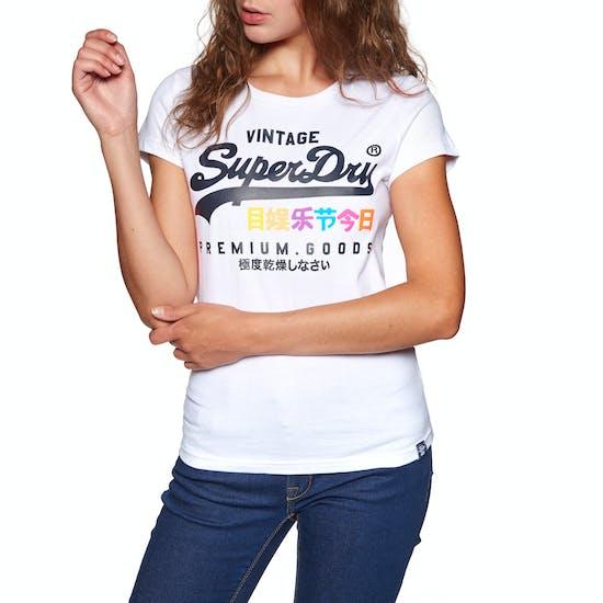 Superdry Premium Goods Puff Entry Dames T-Shirt Korte Mouwen
