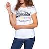 Superdry Premium Goods Puff Entry Dames T-Shirt Korte Mouwen - Optic