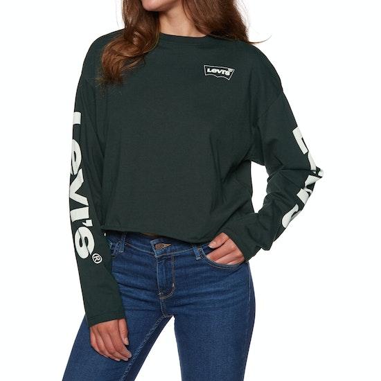 Levi's Graphic Crop Housemark Play Cavi Long Sleeve T-Shirt