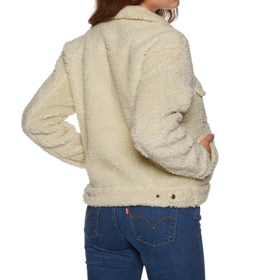 Levi's All Over Sherpa Trucker Cloud Cream Ladies Jacket