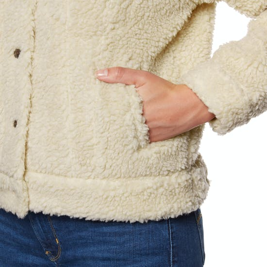 Levi's All Over Sherpa Trucker Cloud Cream Ladies Jacket