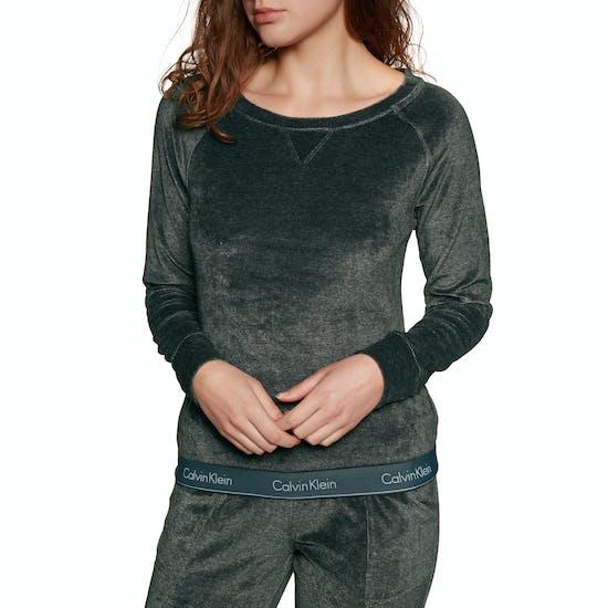 Sweat Femme Calvin Klein Modern Cotton Velour Long Sleeve