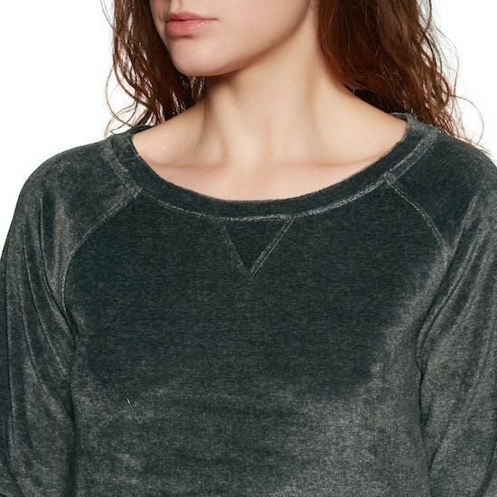 Calvin Klein Modern Cotton Velour Long Sleeve Damen Pullover