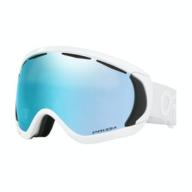 Oakley Canopy Snow Goggles - Factory Pilot Whiteout ~ Prizm Sapphire Iridium