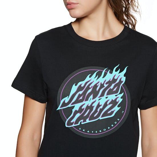 Santa Cruz Flame Dot Ladies Short Sleeve T-Shirt