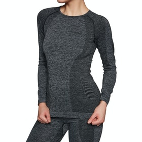 Protest Stacie Thermo Womens Base Layer Top - Dark Grey Melee