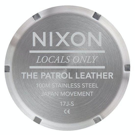 Nixon Patrol Leather Mens Watch