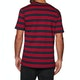 Welcome Scrawl Embroidered Striped Knit Short Sleeve T-Shirt