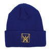 Welcome Icon Cuff Beanie - Navy Yellow