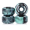 Welcome Apparitions Round 100a Swirls 52mm Skateboard Wheel - Mint/black