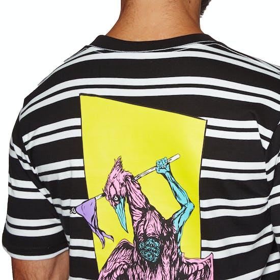 Welcome Twenty Eyes Striped Knit Short Sleeve T-Shirt