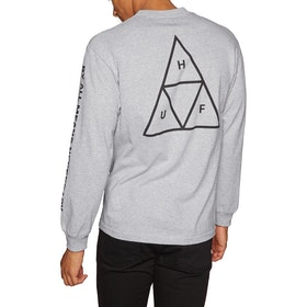 T-Shirt à Manche Longue Huf Essentials Triple Triangle - Grey Heather