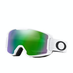 Oakley Line Miner Youth Kids Snow Goggles - Matte White ~ Prizm Snow Jade Iridium