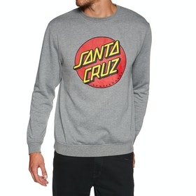 Santa Cruz Classic Dot Crew Sweater - Dark Heather