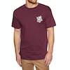 Camiseta de manga corta Brixton Cruz Standard - Burgundy