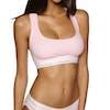 Calvin Klein Modern Cotton Rib Unlined Bralette Damen BH - Nymph's Heather