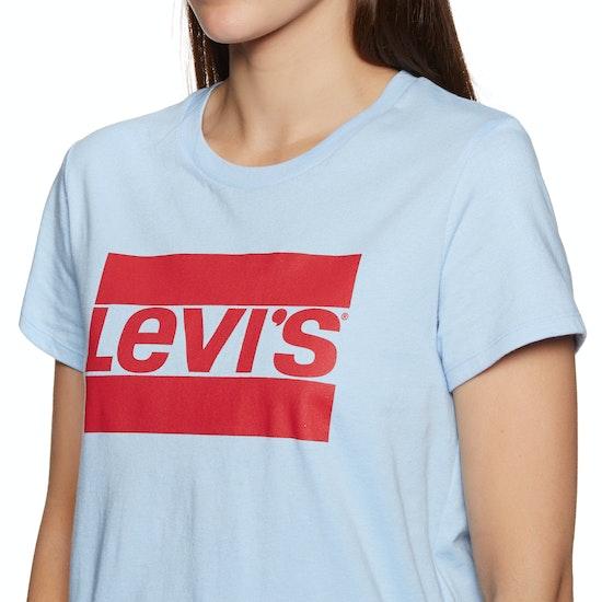 Levi's The Perfect Logo Print Short Sleeve T-Shirt
